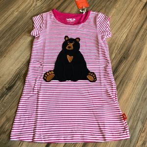 NWT Wild Republic Black Bear organic cotton dress